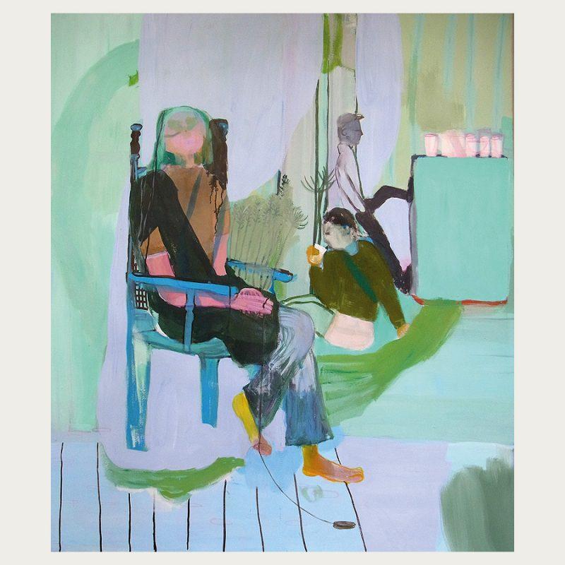 Maja Drachsel | ohne Titel | Tempera auf Leinwand | 2018 | 150 x 120 cm