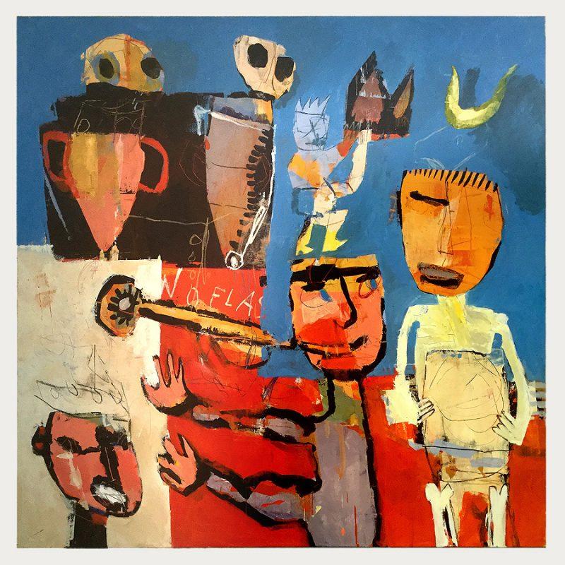 Michel Meyer Minoisch Öl auf Leinwand | 1998 | 115 x 115 cm