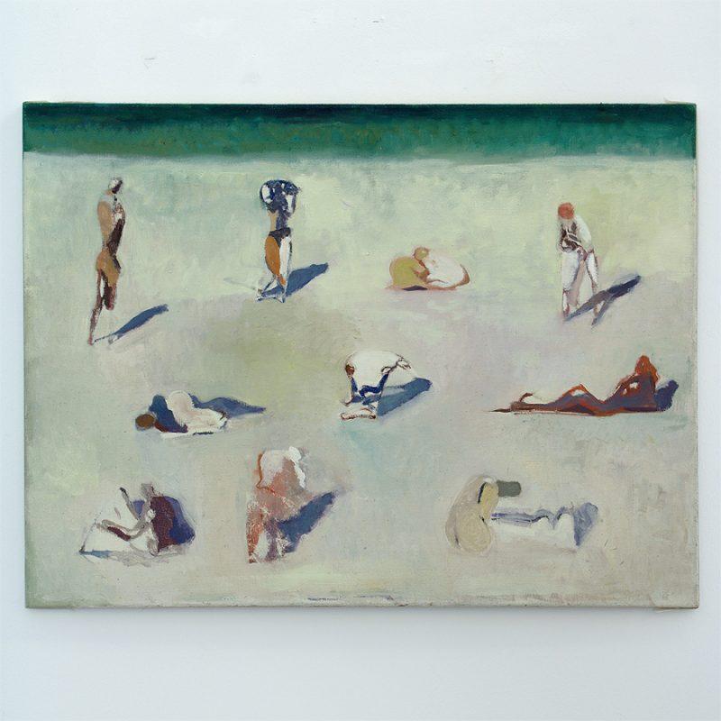 Reinhard Stangl | Am Strand | Öl auf Leinwand | 1998 | 75 x 100 cm