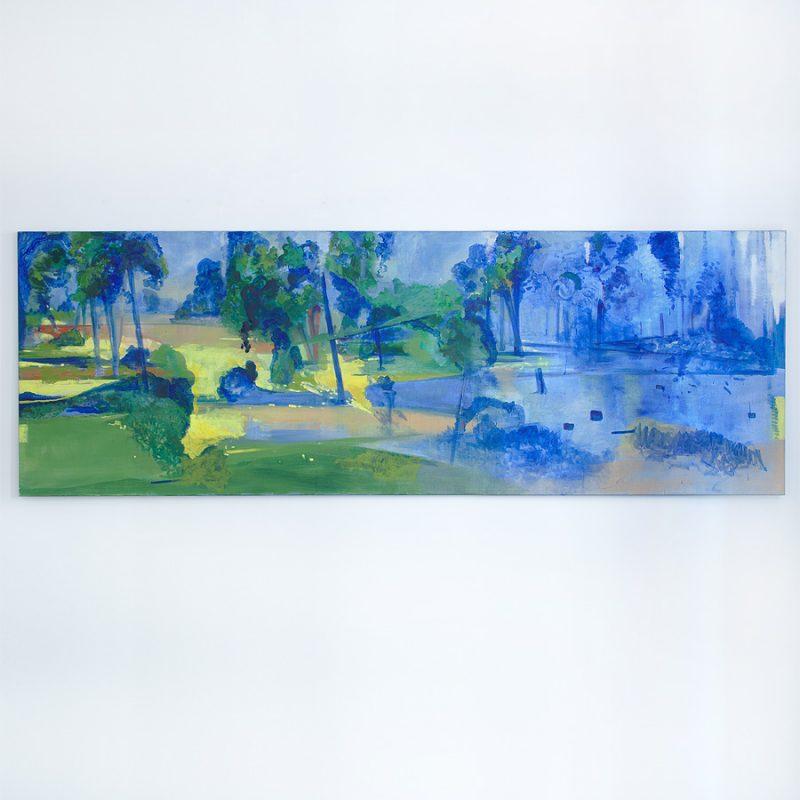 Reinhard Stangl | Märkische Landschaft | Öl auf Leinwand | 2018 | 120 x 350 cm