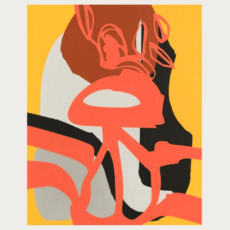 Hans Scheuerecker | ohne Titel | Gouache auf Leinwand | 2013 | 100 x 80 cm