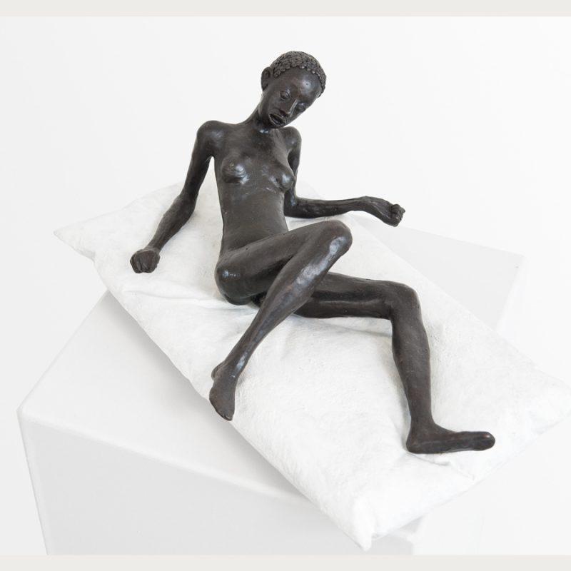 Hans Scheib | Das Bett | Bronze | 2011 | 16 x 39 x 26 cm