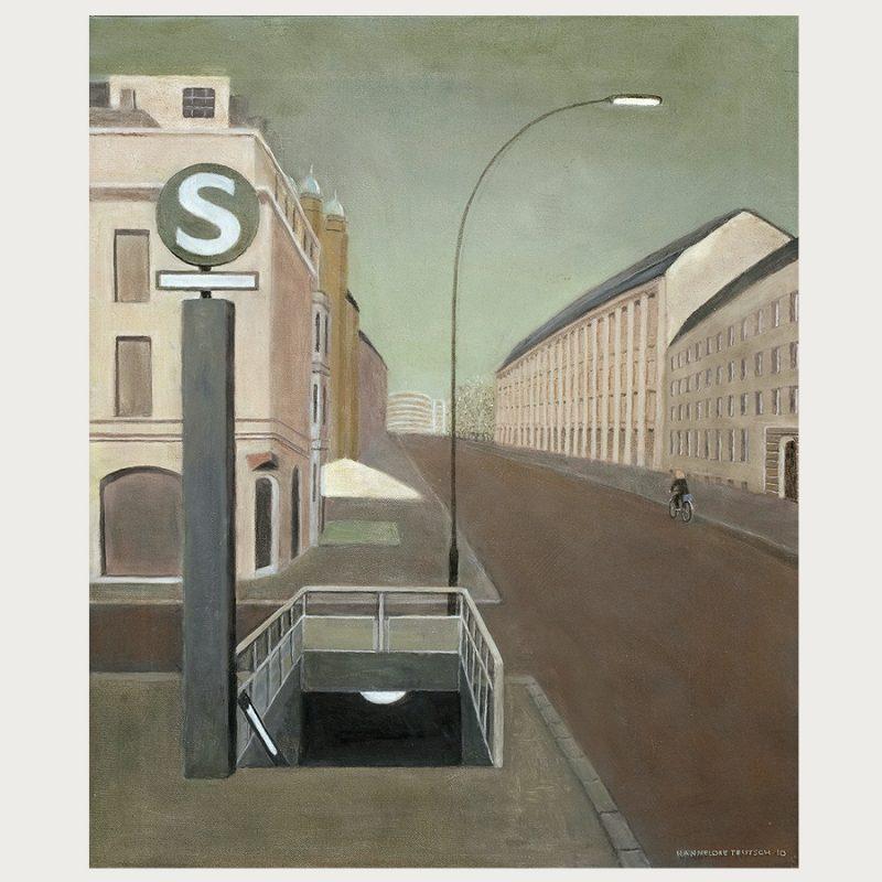 Hannelore Teutsch | Berliner Straße I | Öl auf Leinwand | 2010 | 60 x 50 cm