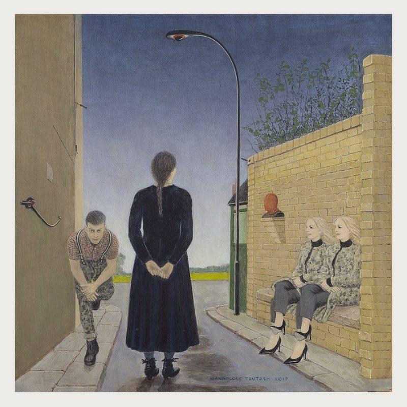 Hannelore Teutsch | Denkmal für den Unsichtbaren | Tempera auf Holz | 2017 | 51 x 51 cm