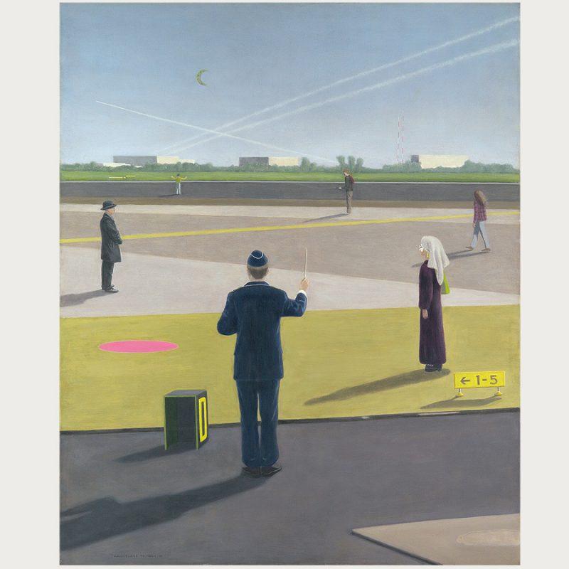 Hannelore Teutsch | Der Dirigent | Öl auf Leinwand | 2014 | 110 x 90 cm