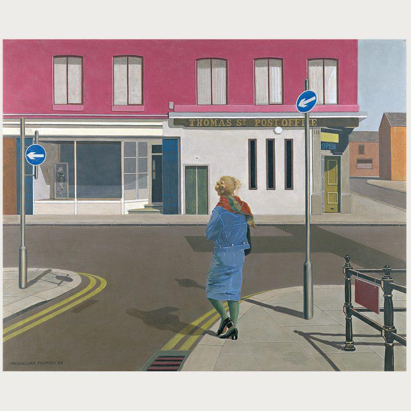 Hannelore Teutsch | Drei Wege  – eine Frau II | Tempera auf Holz | 2008 | 70 x 85 cm