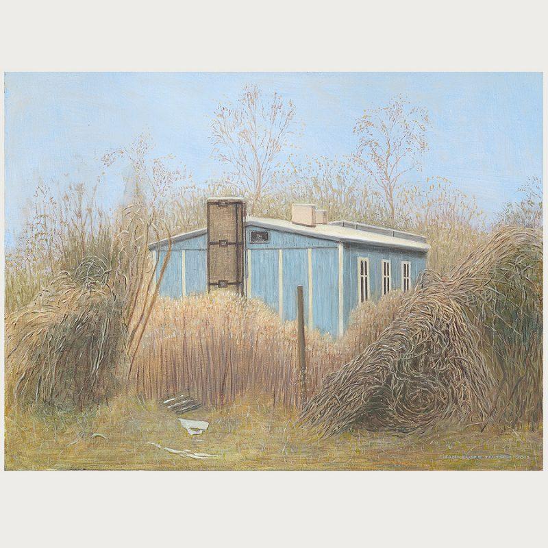 Hannelore Teutsch | Fahle Winterlandschaft | Öl auf Leinwand | 2013 | 60 x 80 cm