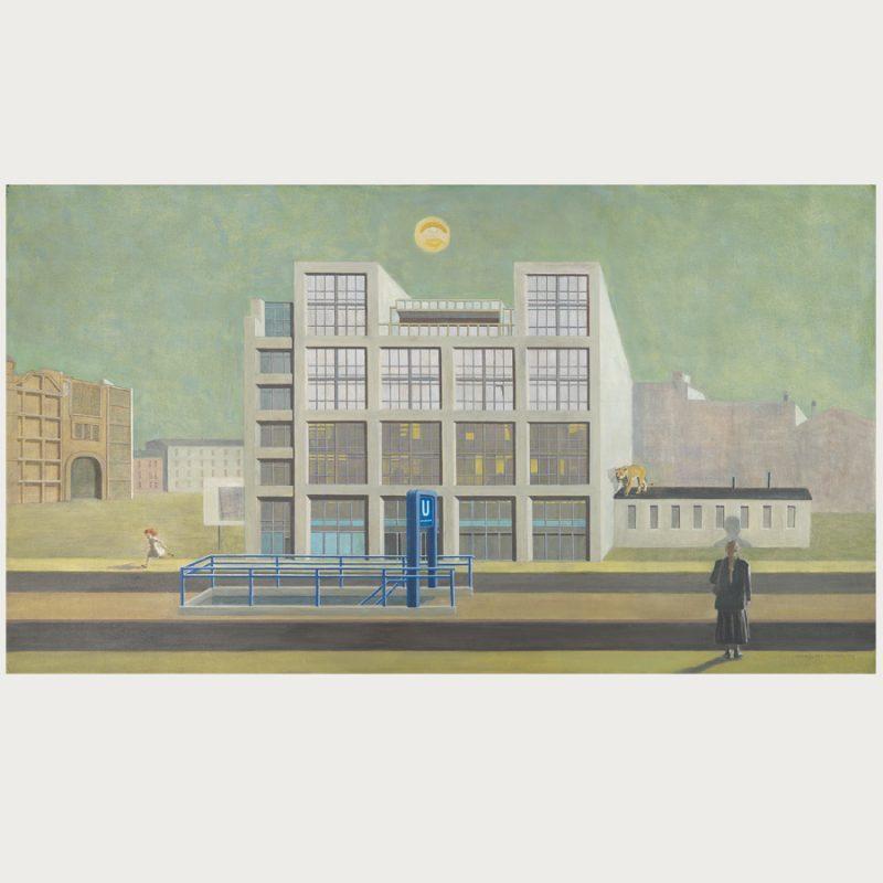 Hannelore Teutsch | Fremde Stunde | Öl auf Leinwand | 2009 | 90 x 160 cm