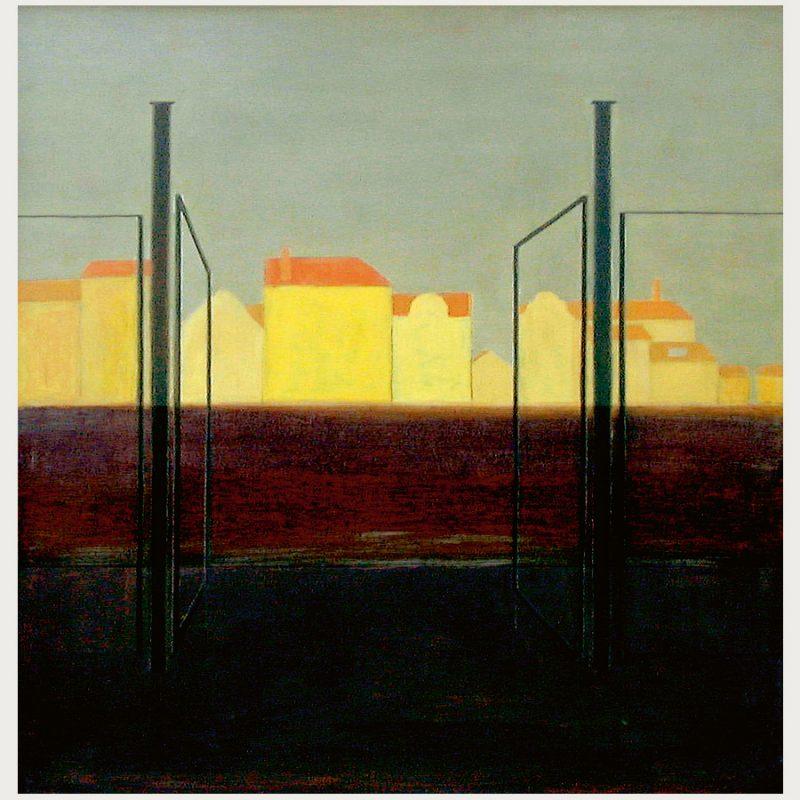 Hannelore Teutsch | Häuser im Licht | Öl auf Leinwand | 2010 | 60 x 50 cm
