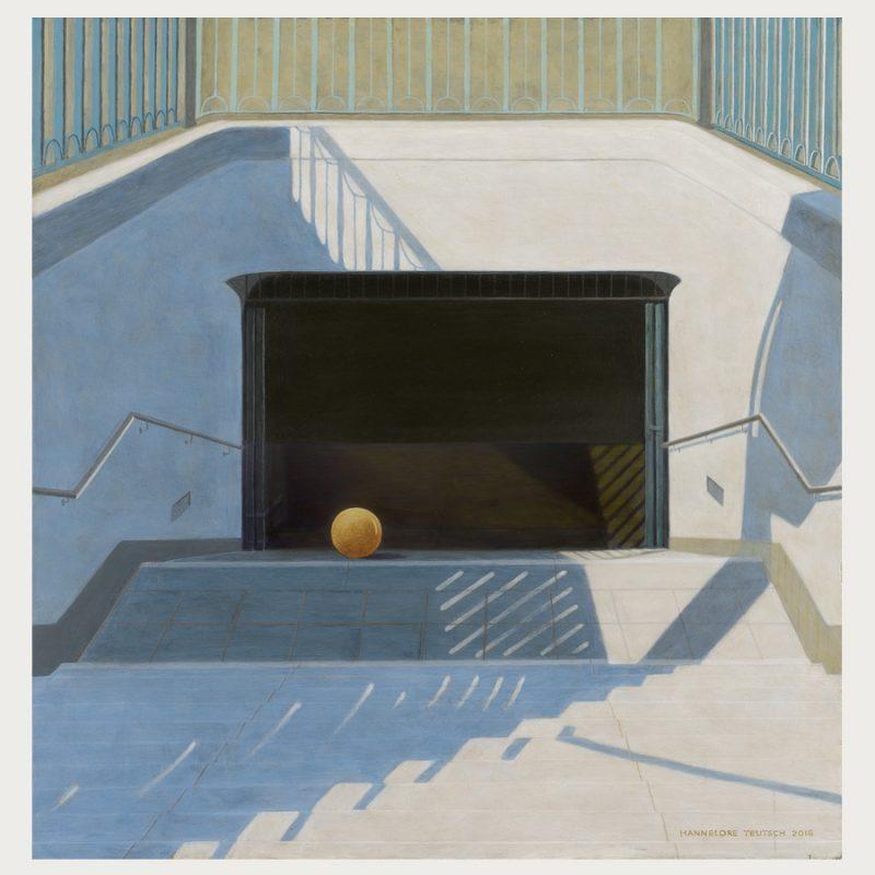 Hannelore Teutsch | Jenseits von Eden | Tempera auf Holz | 2016 | 69 x 66,5 cm