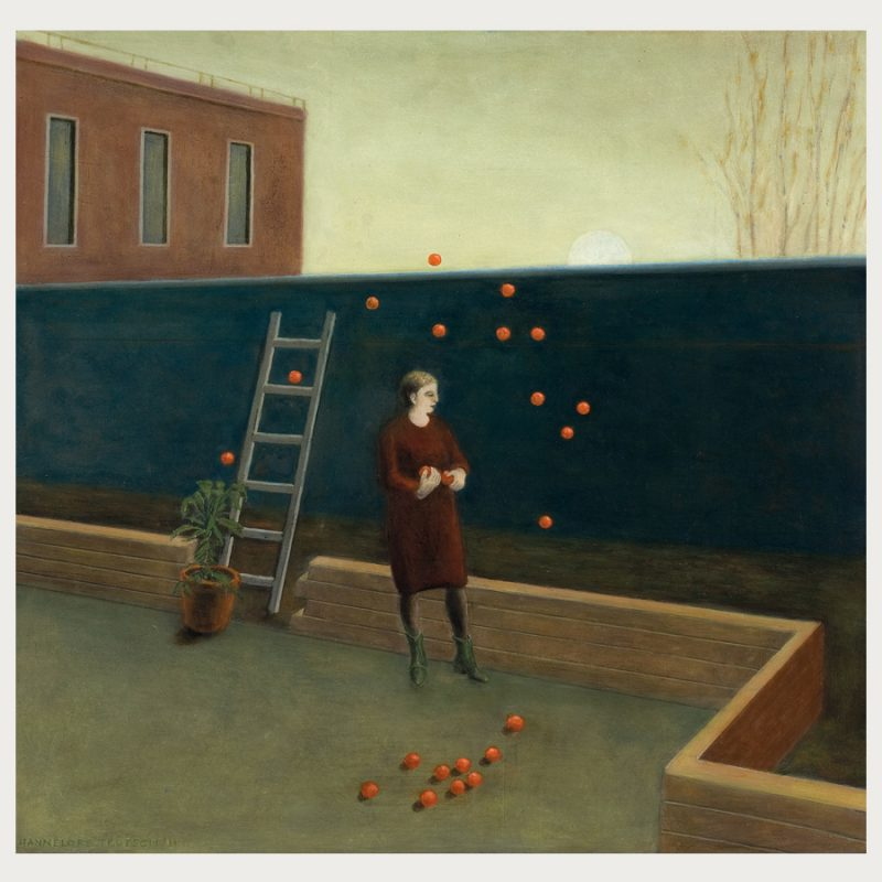 Hannelore Teutsch | Nächtliche Ernte Öl auf Holz | 2011 | 67 x 70 cm