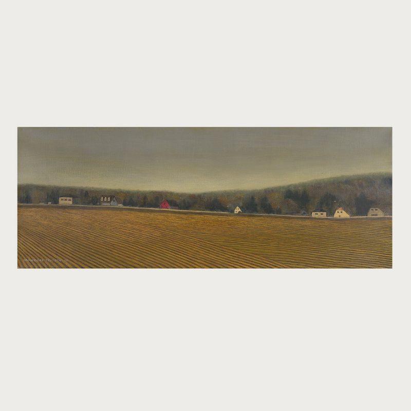 Hannelore Teutsch | Ortsrand | Tempera auf Leinwand | 2017 | 30 x 78 cm