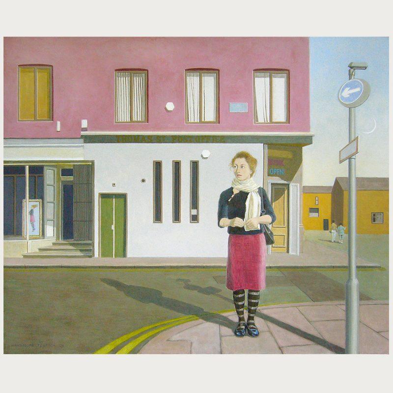 Hannelore Teutsch | Postoffice | Tempera auf Holz | 2008 | 70 x 85 cm