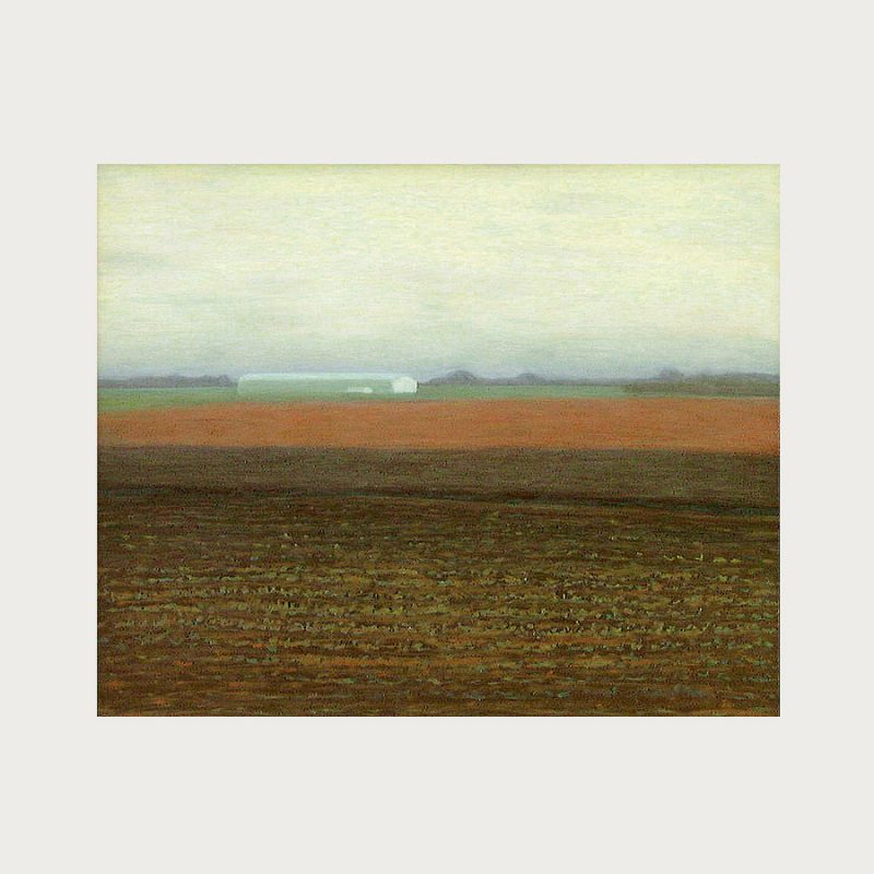 Hannelore Teutsch | Rotes Feld | Tempera auf Holz | 2002 | 70 x 85 cm