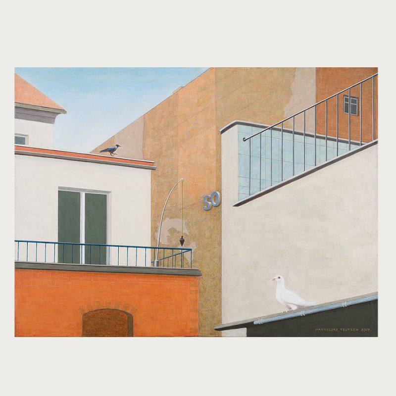 Hannelore Teutsch | So ... | Tempera auf Leinwand | 2016 | 60 x 80 cm
