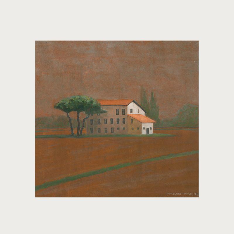 Hannelore Teutsch | Veneto II | Tempera auf Holz | 2009 | 46,5 x 49 cm